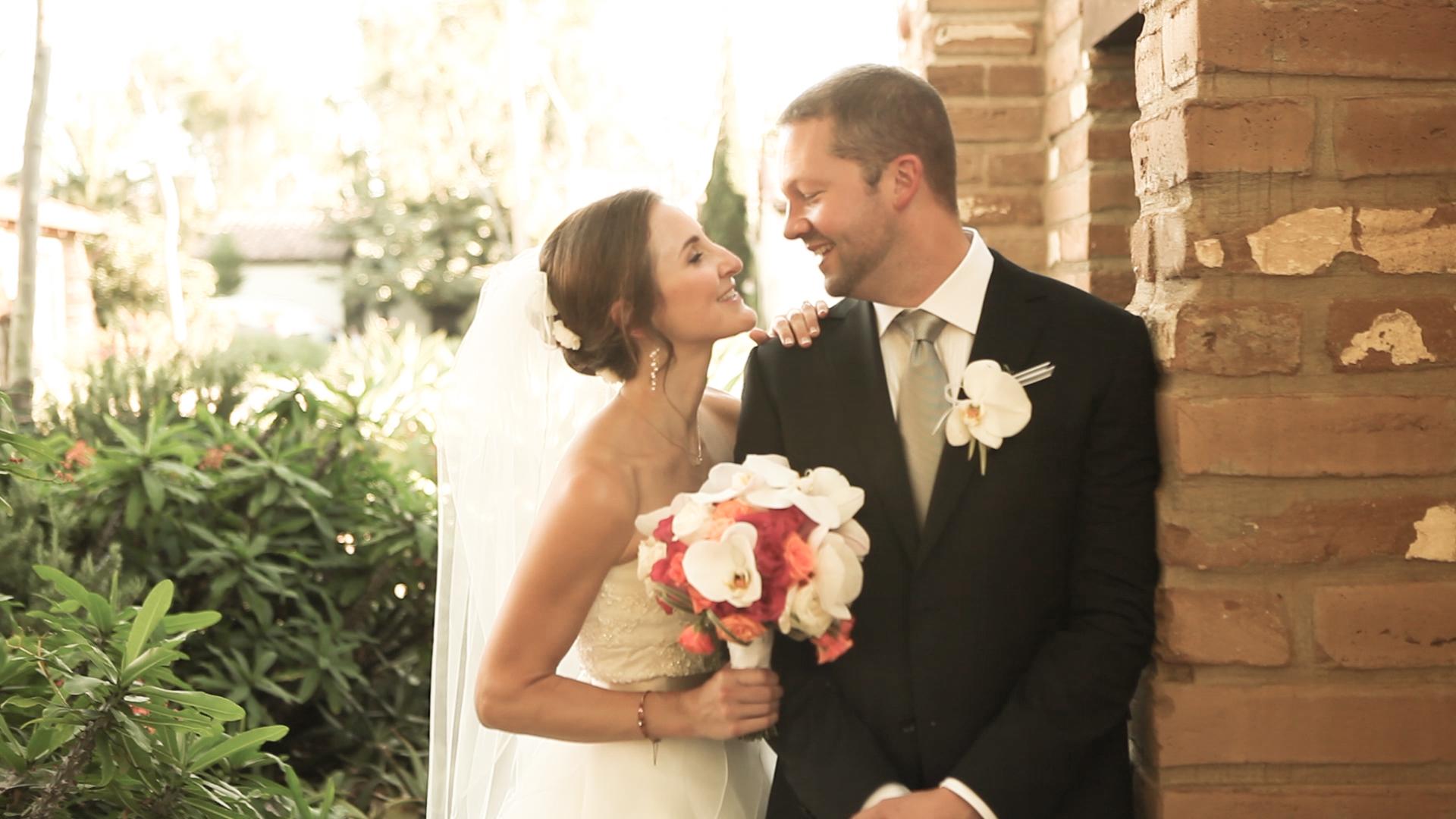 Bride and groom at Estancia.