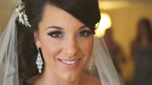 Closeup of bride