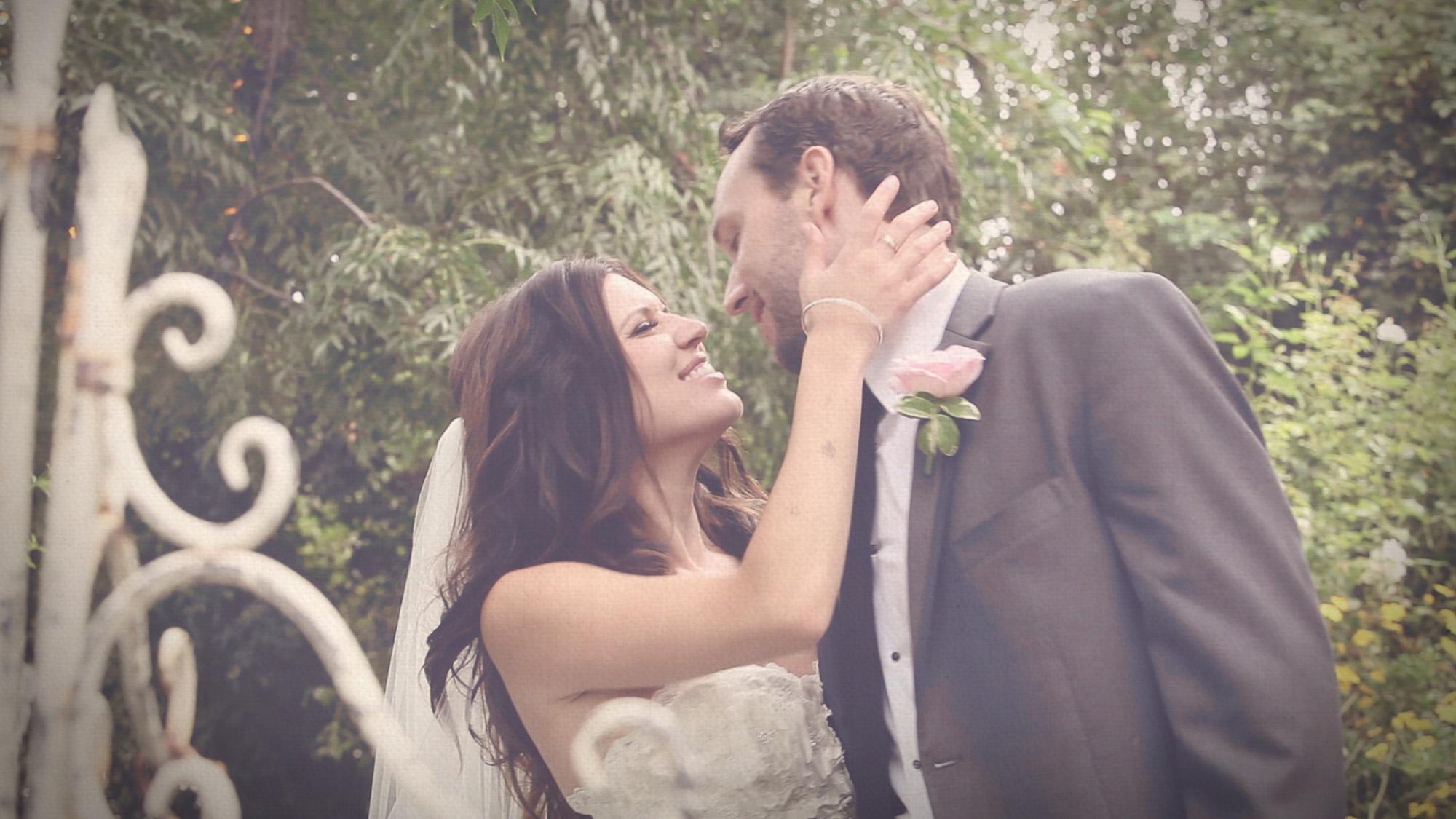 Bride and Groom Twin Oaks Garden Estate Wedding
