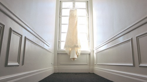 Wedding Dress in old hotel