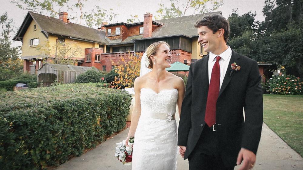Bride and Groom Marston House San Diego