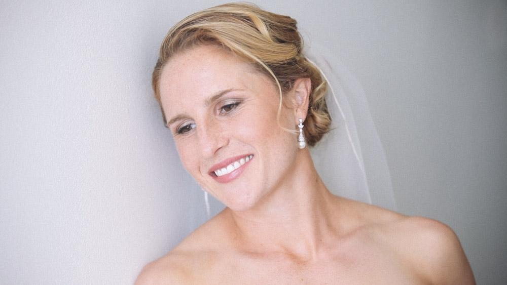 Bride in Hallway Park Manor Hotel