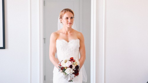 Bride with Boquet San Diego