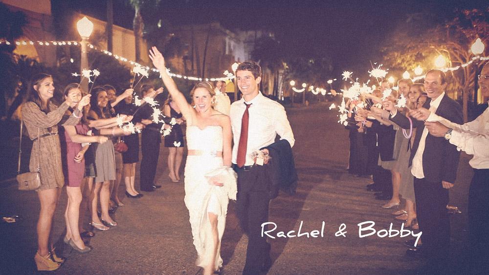 Bride Groom Sparklers Balboa Park