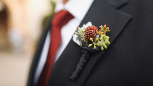 Groom Boutonniere Detail