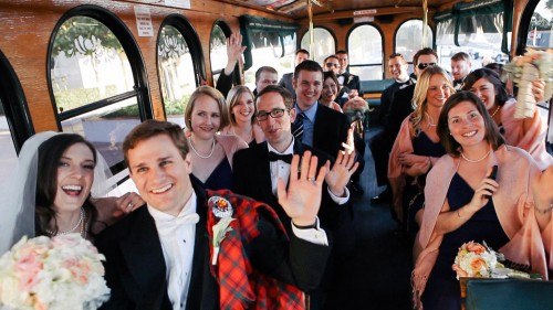 San DIego Trolley Wedding