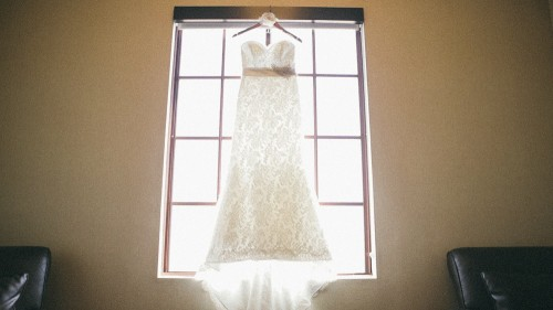 Wedding Dress in window