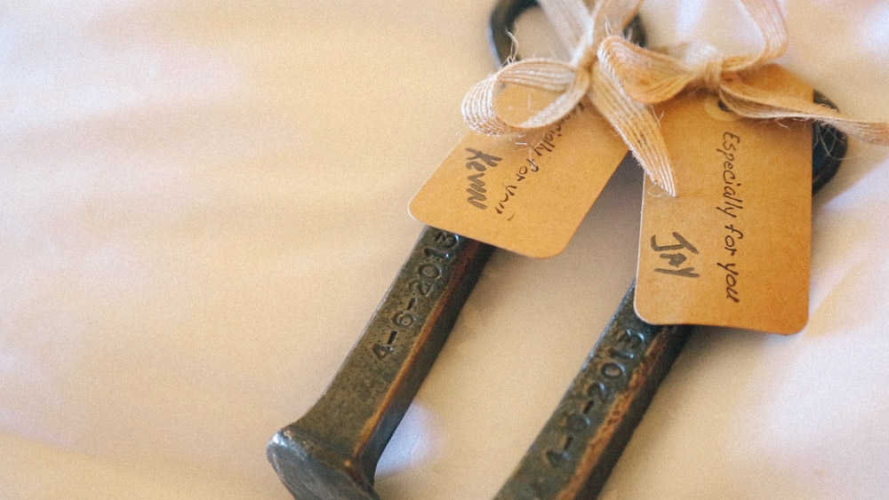 Wedding Rail Road Spke bottle openers