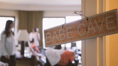 Bride's Babe Cave Sign