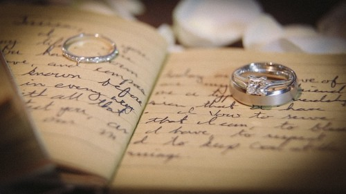 Wedding Rings on wedding Vows.