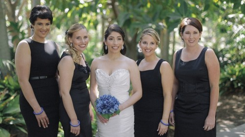bridesmaids  at jewish wedding