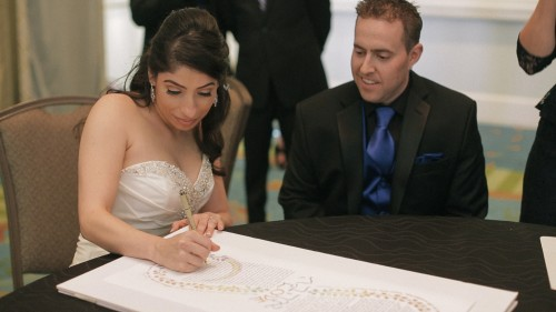 Signing the Ketubah Jewish wedding