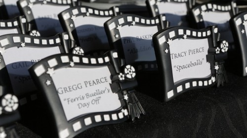 Movie themed wedding