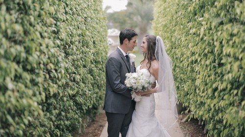 Wedding video outdoor