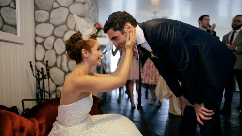 Groom comes to get bride
