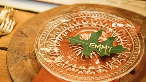 wedding plate details