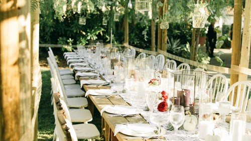Wedding table vintage decor
