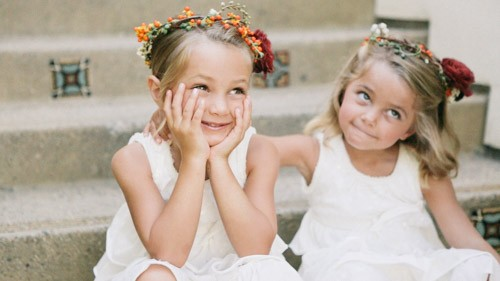flower girls at estancia wedding