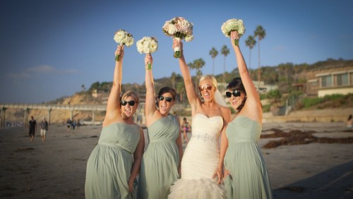 Brides's maids beach La Jolla Shores Wedding