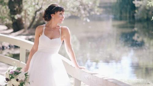 Bride at Calamigos Malibu Wedding