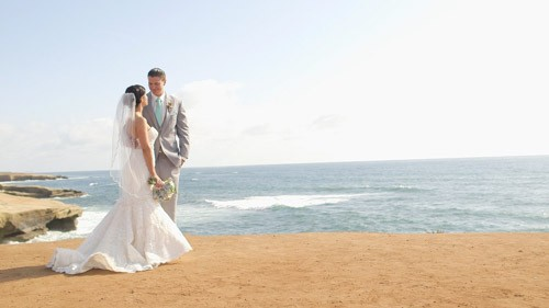 La jolla ocean cliffs wedding