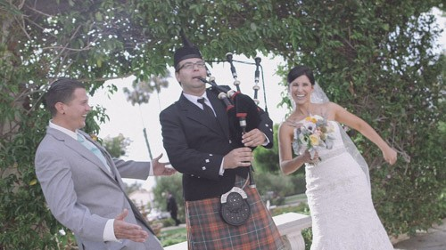 Wedding with bag pipes