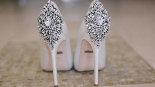 bejewled brides shoes