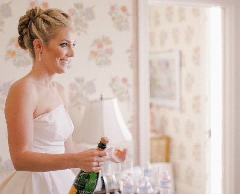 Bride with Champagne La Jolla wedding Video