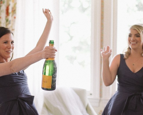 Bridesmaids with Champagne La Jolla wedding Video