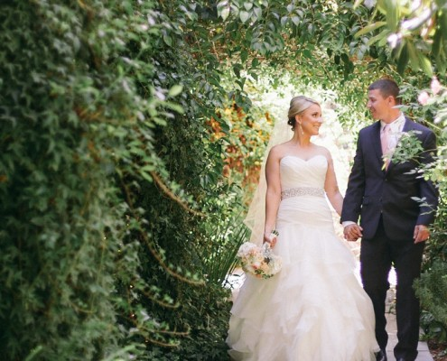 San Diego Wedding Video Bride and Groom at Twin Oaks Gardens and Estate