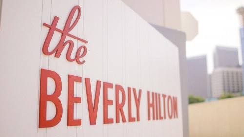 The Beverly Hilton Sign