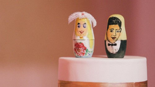 Matryoshka doll cake topper