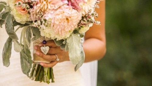 Beautiful Bride's bouquet at Lake Oak Meadows Wedding video in temecula wine country