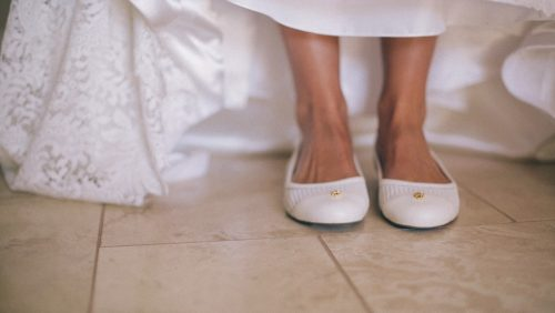 Cute bride shoes.