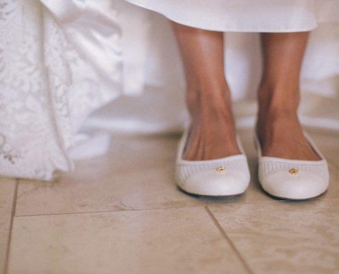 Mt Woodson Wedding detail of brides shoes