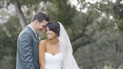 Mt Woodson Wedding Video bride and groom after ceremony