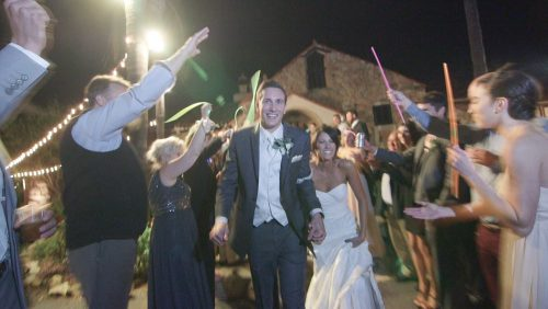 Grand exit wedding video