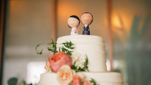 cute wooden wedding cake toppers