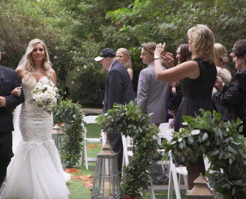 bride down the aisle twin oaks