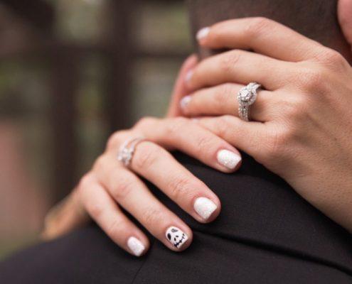 brides nails halloween wedding