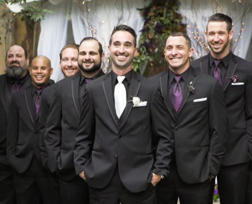 halloween wedding groomsmen