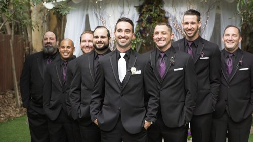 halloween wedding groomsmen
