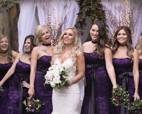 Halloween Wedding Brides Maids
