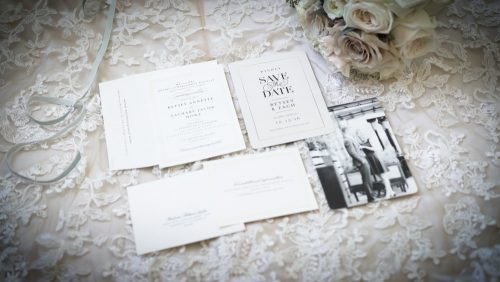 Lovely wedding stationary