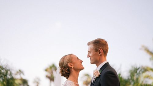 Bride and groom in beautiful La Valencia Wedding video