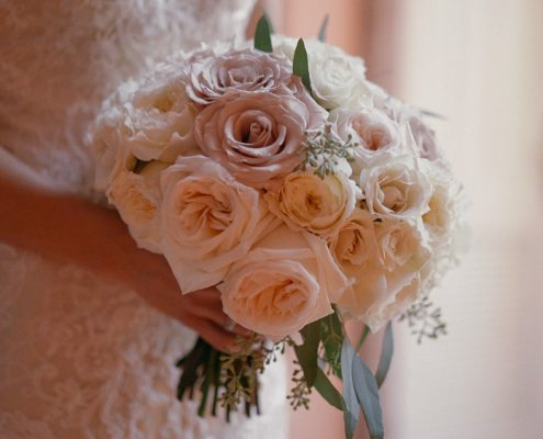 Bride hold bouquet san diego wedding video