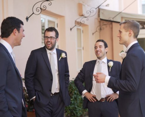 Groomsmen at La Valencia wedding