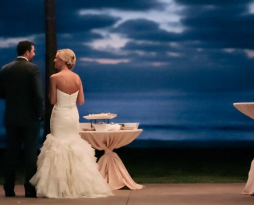 Scripps Seaside Forum bride and groom