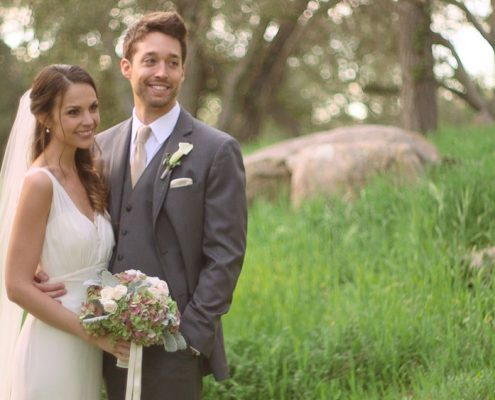 Bride and groom Mt Woodson Castle Wedding video with bride and groom