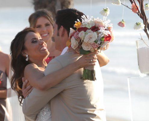 Scripps Seaside Forum Wedding bride and groom just married